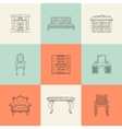 home furnishings vector image