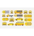 Set cars hatchback delivery truck light truck vector image