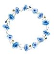 Cornflower watercolor wreath vector image vector image