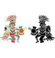 Aztec stencil vector image vector image