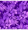 Violet tropical flowers seamless pattern vector image vector image