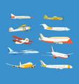 airplane passenger military biplane airplane vector image