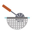 bowl drainer vector image