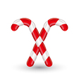 Christmas candy canes isolated on white background vector image