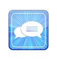 version Bubble speech icon Eps 10 vector image