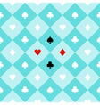 Card Suits Aqua Green Chess Board Diamond vector image