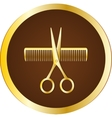hairdresser sign with scissors and comb vector image