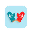 mittens christmas flat icon holiday symbol vector image vector image