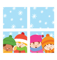Kids Looking Through Window vector image