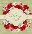 Vintage card with flowers vector image