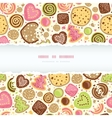 Colorful cookies horizontal torn frame seamless vector image vector image