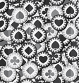 monochrome poker chips seamless texture vector image