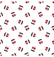 flat coffee cup seamless pattern vector image