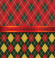 Christmas Seamless Argyle Pattern Design Set 6 vector image