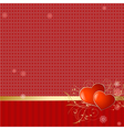 love retro wallpaper vector image