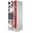 vending coffee is a machine isolated on white back vector image vector image