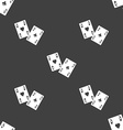 Two Aces icon sign Seamless pattern on a gray vector image