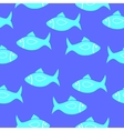 Seamlessly fish pattern vector image