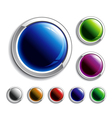 colorful glossy buttons set vector image vector image