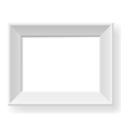 Realistic white frame vector image