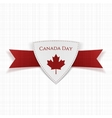 Canada Day festive red Label vector image