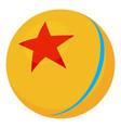 ball icon cartoon style vector image