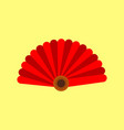 chinese paper hand fan graphic vector image