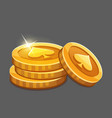 few gold coins icon vector image