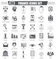 Finance black icon set Dark grey classic vector image