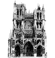 Gothic cathedral vector image
