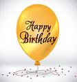 Happy birthday colorful card design vector image