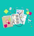 healthcare hospital and medical diagnostics vector image