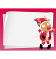 Reindeer and paper sheets vector image
