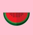 simple flat watermelon slice vector image