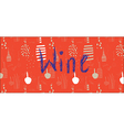 Wine banner design with bottles vector image