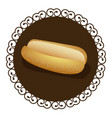 decorative frame with realistic picture bread for vector image