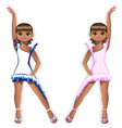 pretty girl dancer in a beautiful dress vector image