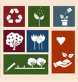 retro labels with ecology signs and icons vector image