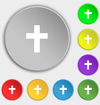 religious cross Christian icon sign Symbol on vector image