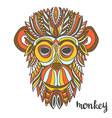 Ornamental monkey a symbol of New Year 2016 ethnic vector image