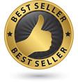 Best seller golden label vector image vector image