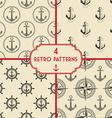 anchor pattern set vector image