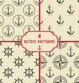anchor pattern set vector image