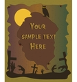 Halloween poster with zombie hands silhouettes vector image