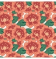Seamless decorative pattern with flowers vector image