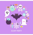 Scary Party Trendy Poster vector image
