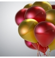 Realistic glossy balloons vector image
