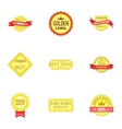 Certificate tag icons set cartoon style vector image