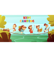 Camping Kids Background vector image