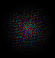 Colorful circle of dots on a black background vector image